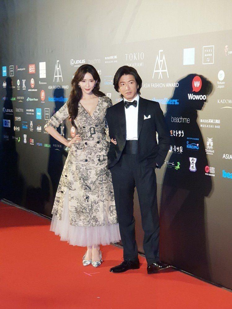 木村拓哉與林志玲2010年合作日劇「月之戀人」,去年底木村來台出席2018亞洲時