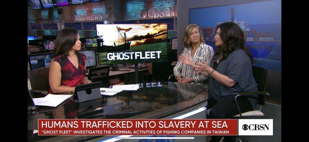 美國哥倫比亞廣播公司(CBS)談泰國漁船奴隸問題,新聞標題卻註明「『Ghost ...