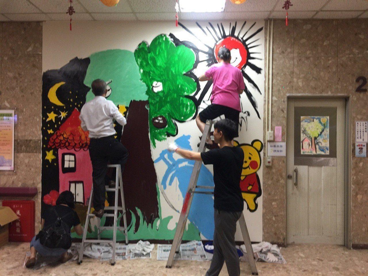患者牆壁作畫 盼驅逐隔閡、帶來更多的理解