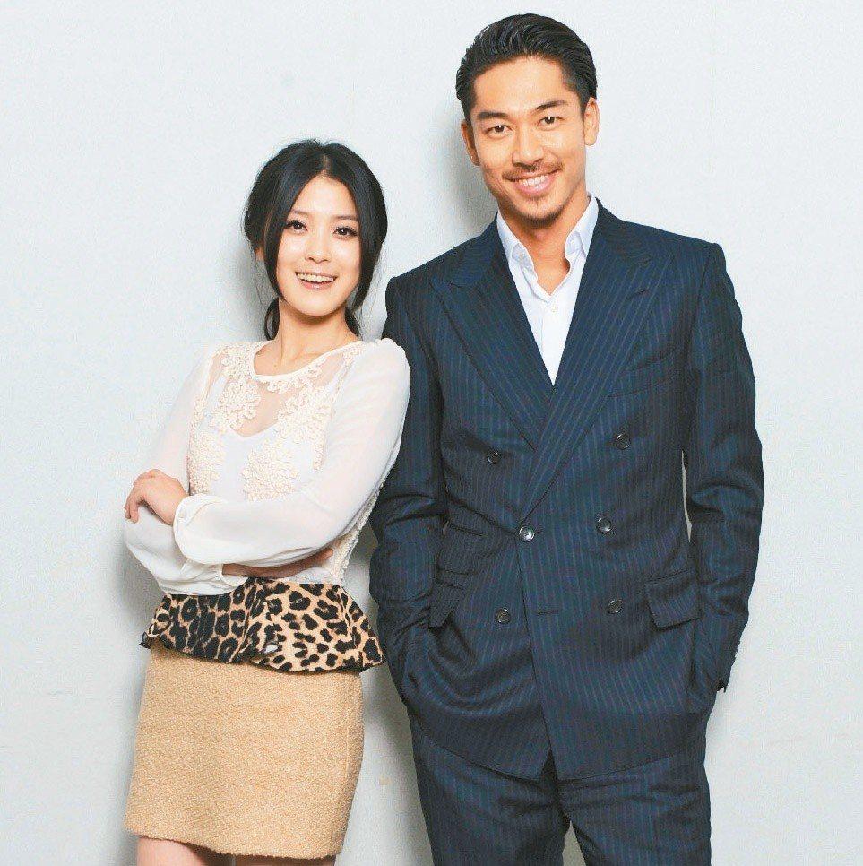 AKIRA(右)和卓文萱合作「麻辣教師GTO台灣篇」。圖/八大提供