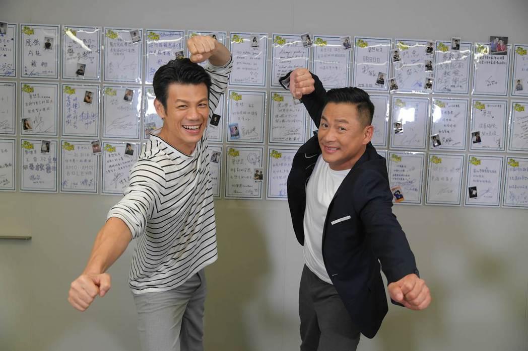 陳志強(左)和江宏恩都曾是龍舟隊員 圖/三立提供