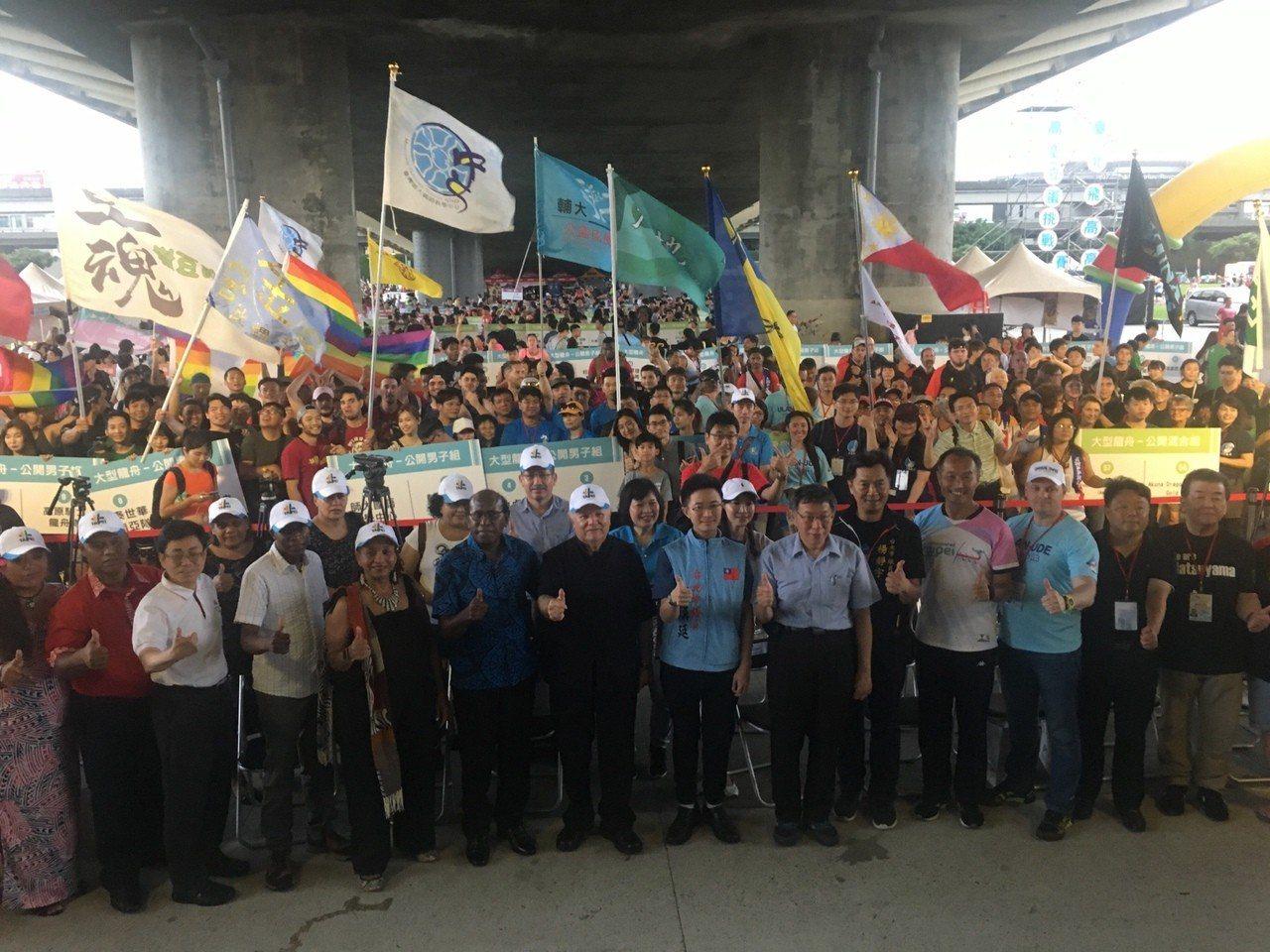 台北國際龍舟賽熱鬧展開 218隊6千好手較勁