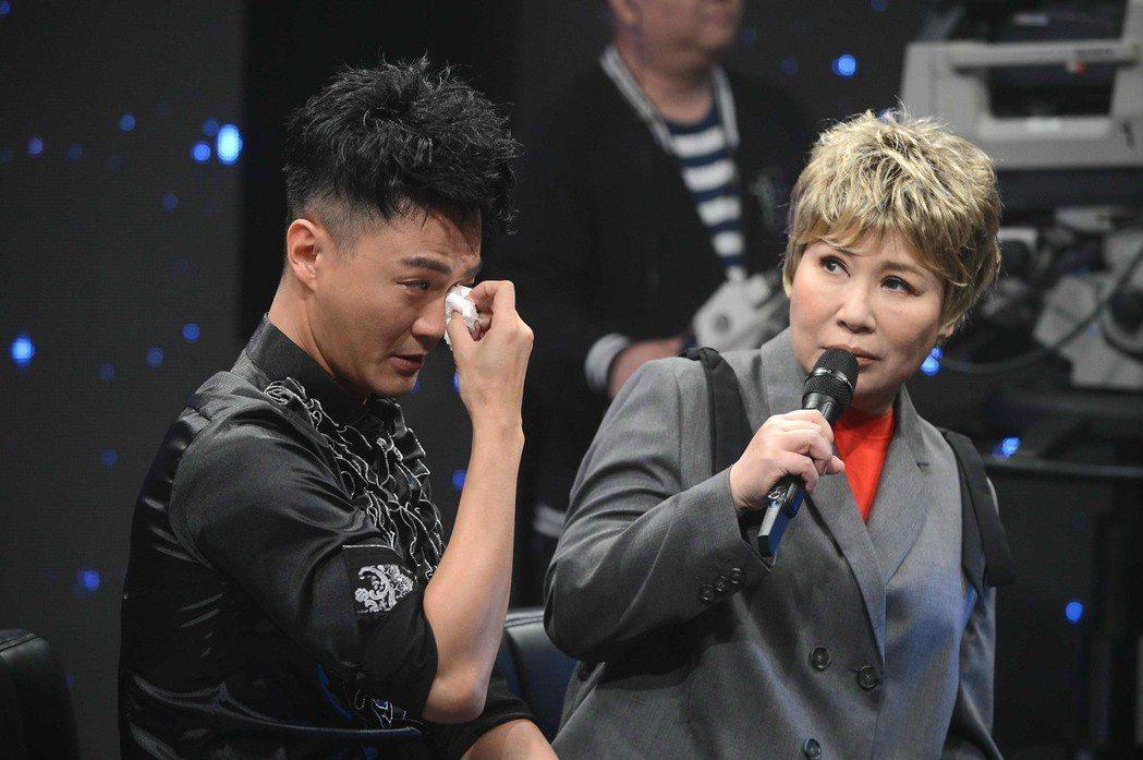 林俊逸聽到趙詠華歌聲感動落淚。圖/八大提供