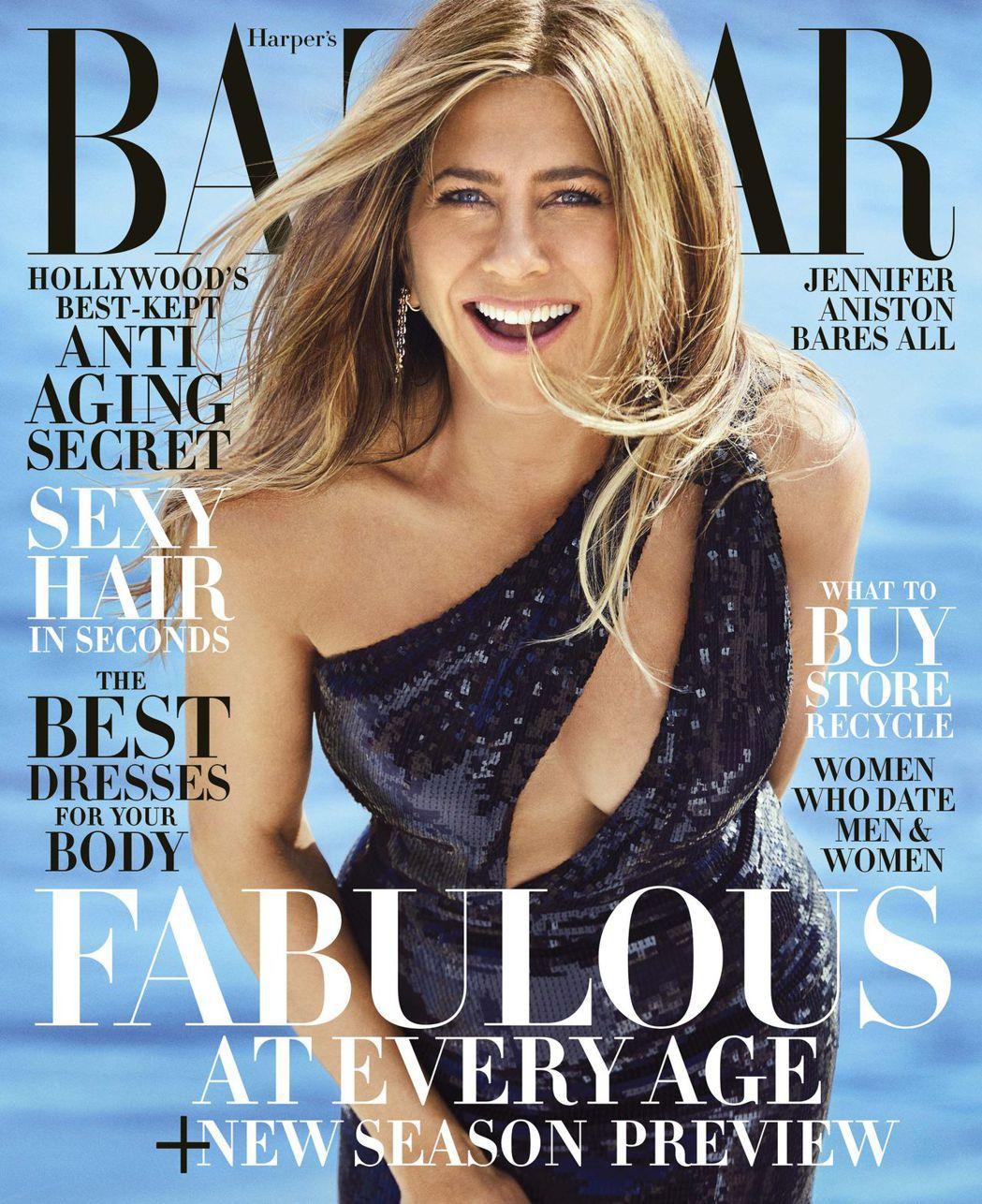 珍妮佛安妮絲頓對自己年過半百的體態仍很自豪。圖/摘自Harpers Bazaar