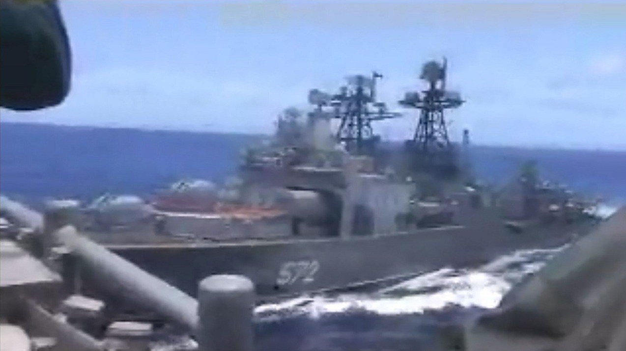 美俄兩國海軍艦艇7日在西太平洋發生距離近到差點就要發生碰撞,雙方互控對方做出不專...