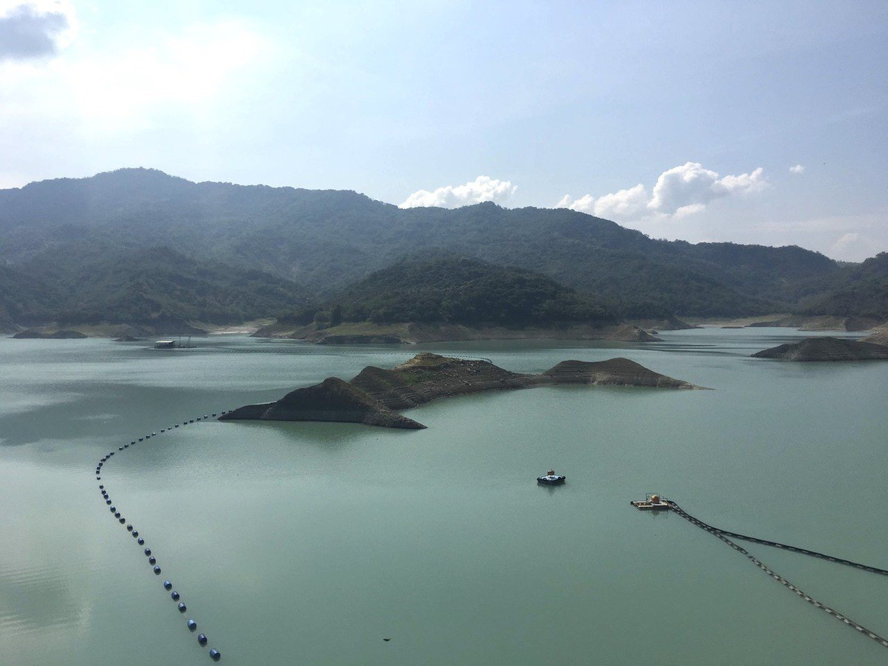 南化水庫目前蓄水量接近8成,讓今年水情比起往年同期相對穩定。記者吳淑玲/攝影