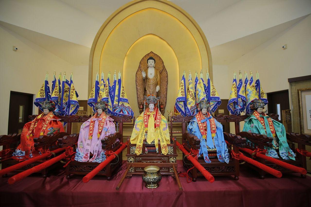 天津媽祖來台匯親 佛陀紀念館盛大接駕