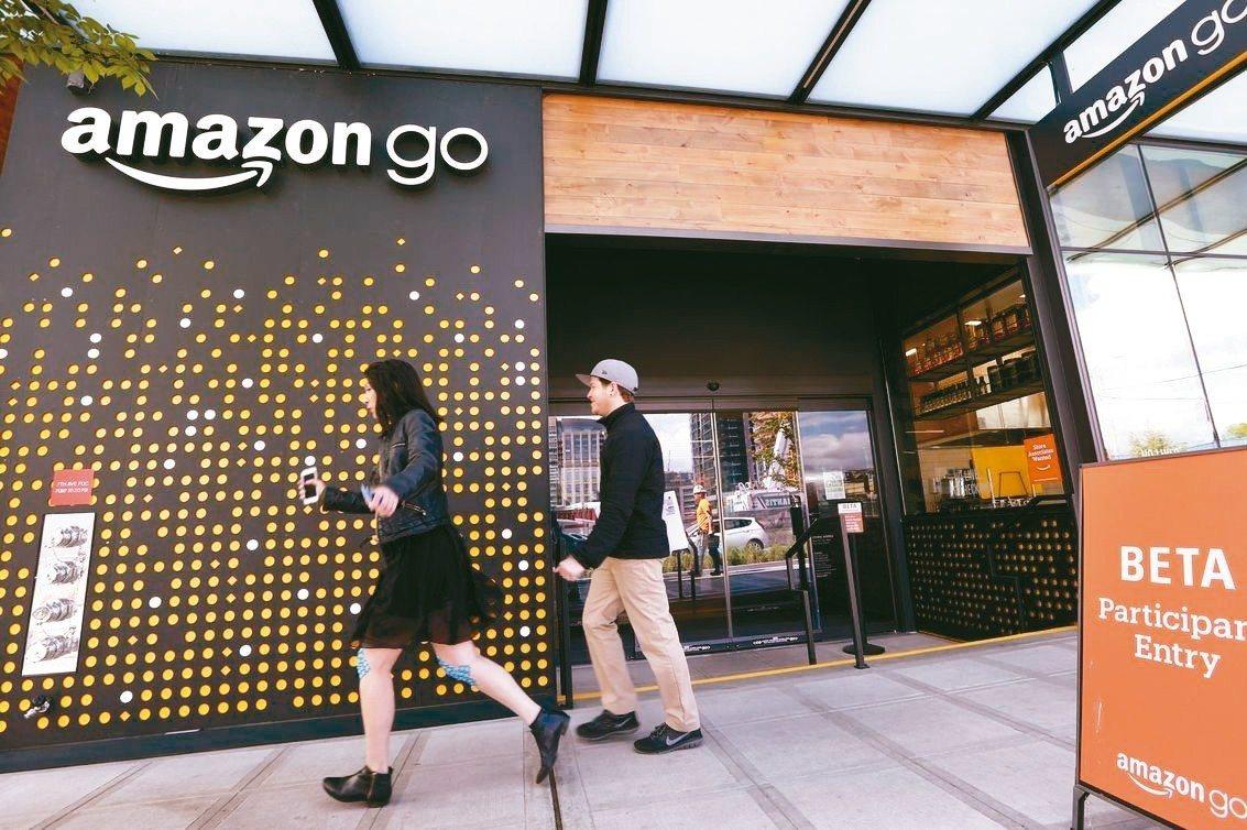圖為加州的亞馬遜無人商店。 美聯社