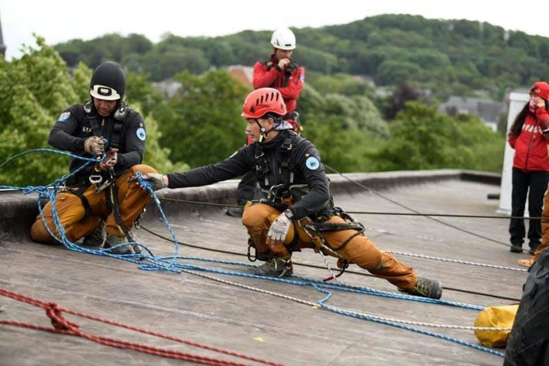 圖/繩索救援任務,為所有繩索活動中難度最高、程序最嚴謹的一項。擷取自高雄繩索救援...