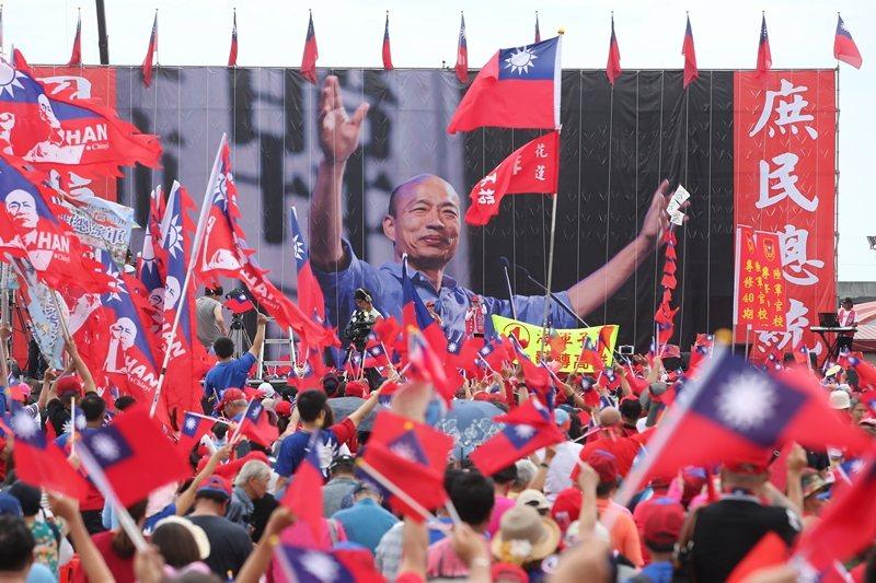 6月8日,高雄市長韓國瑜第二場造勢活動在花蓮舉行。 圖/聯合報系資料庫