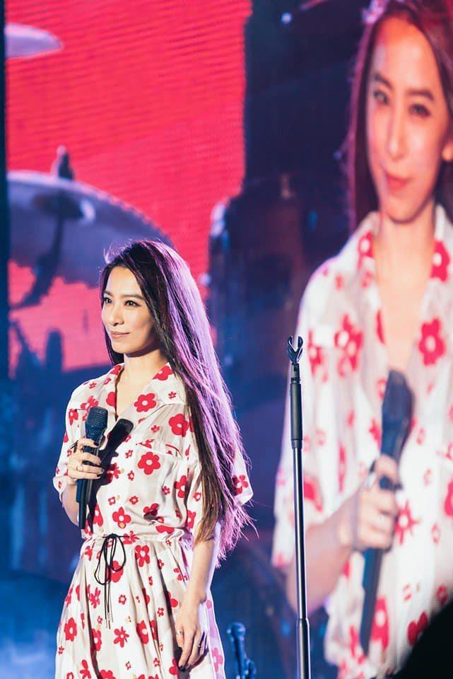 田馥甄在上海春浪音樂節壓軸獻唱。圖/摘自臉書
