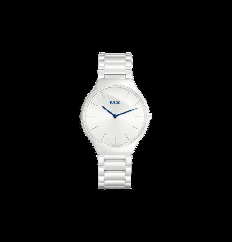RADO真我超薄系列腕表,高科技電漿陶瓷表殼、表鍊,搭載石英機芯,約67,600...