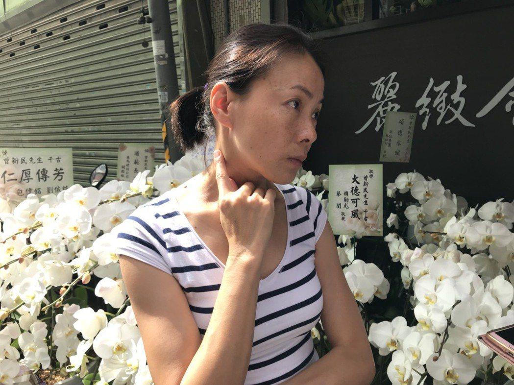 柯淑勤到賀一航的頭七法會。記者李姿瑩/台北報導