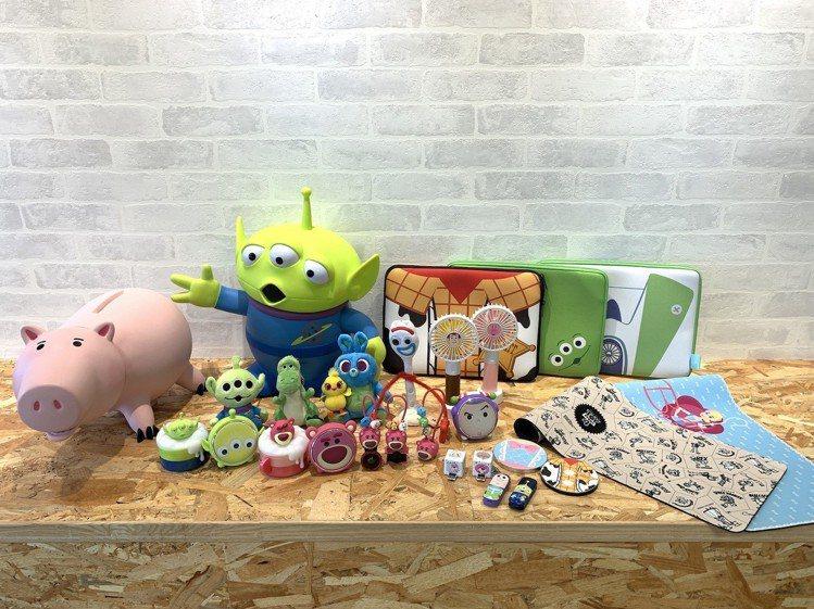 KK選物最新「玩具總動員4」策展主題,推出眾多角色周邊實用商品。圖/KK選物提供