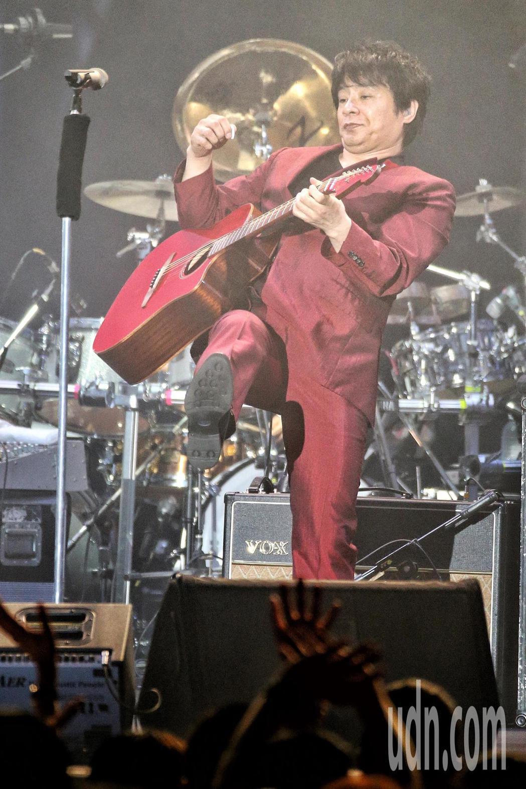 飛鳥涼ASKA演唱會晚上在台大體育館舉行。記者林伯東/攝影