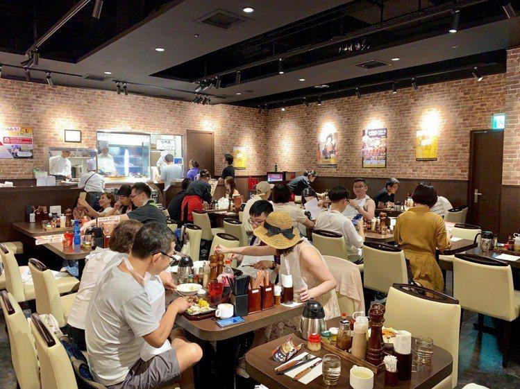 IKINARI STEAK台灣一號店共有56座位。記者張芳瑜/攝影