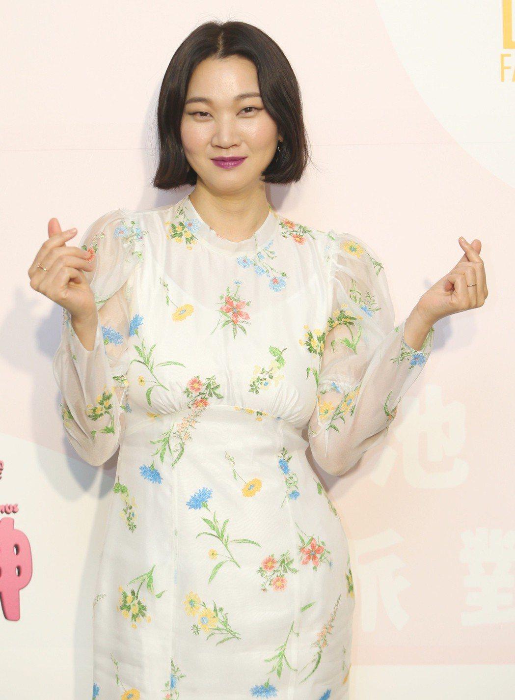 韓國超模張允珠來台錄製三立美妝節目。記者侯永全/攝影