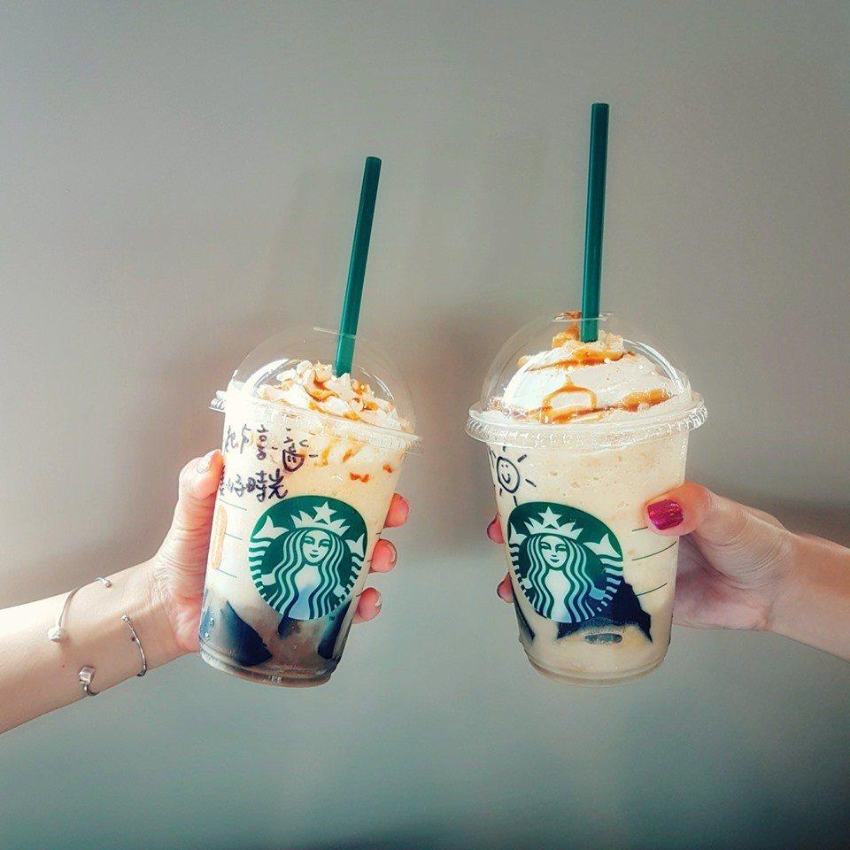 星巴克推出飲品限時買一送一。 圖/星巴克咖啡同好會
