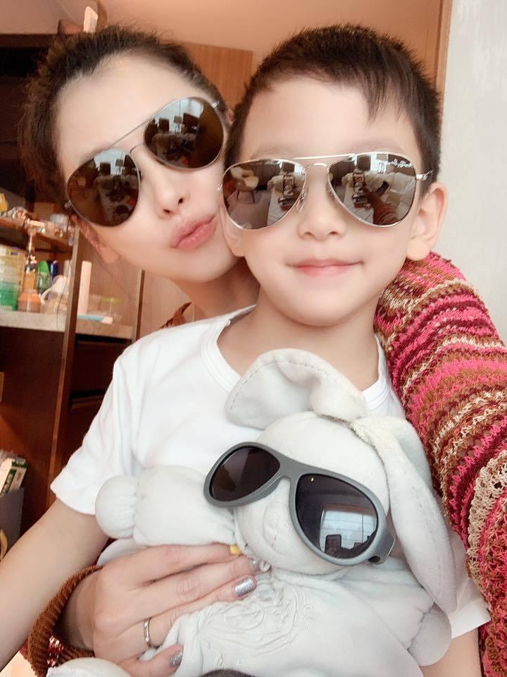 徐若瑄與兒子Dalton。 圖/擷自徐若瑄臉書