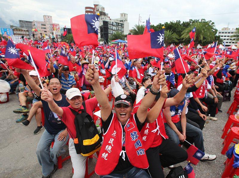 韓國瑜的支持者,目前很難說一定是經濟方面比較低階層的族群。 圖/聯合報系資料照