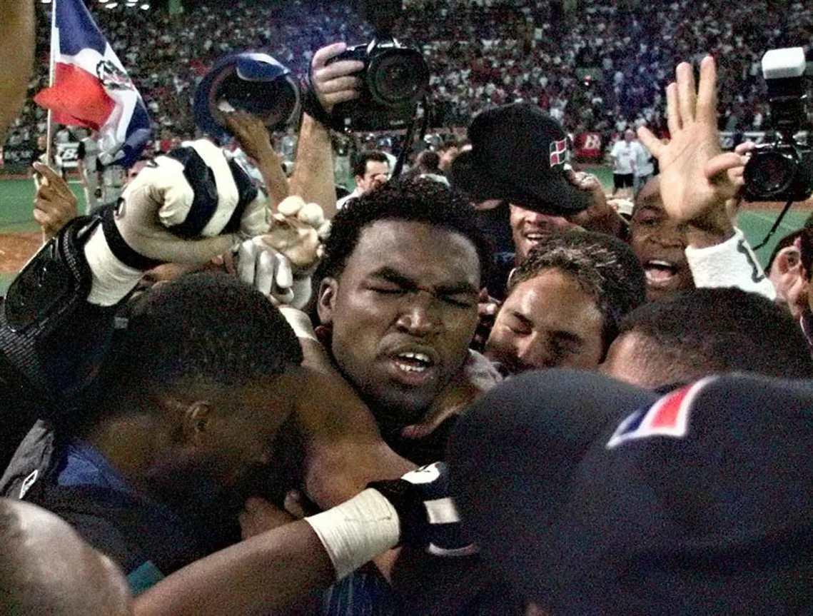 1999年,代表多明尼加出賽國際賽的老爹。 圖/法新社