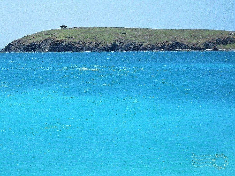從澎澎灘,還是可以望見鳥嶼。