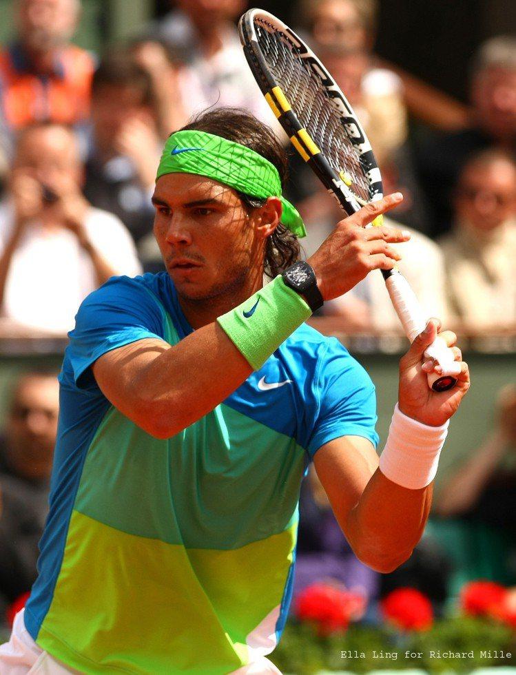 在2010年的法網時,納達爾開始配戴RM 27 Rafael Nadal陀飛輪腕...
