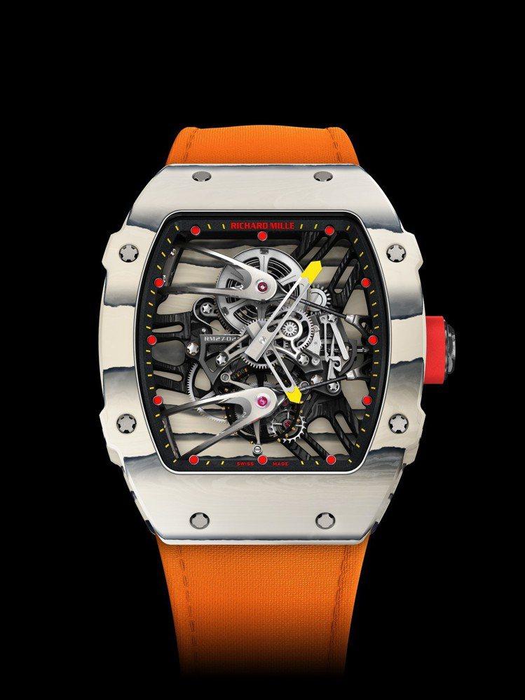 RM 27-02 Rafael Nadal陀飛輪腕表,碳纖維材料結合TPT®石英...