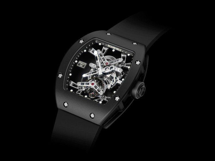 RM 27 Rafael Nadal陀飛輪腕表,碳纖維表殼,約1,897萬元。圖...