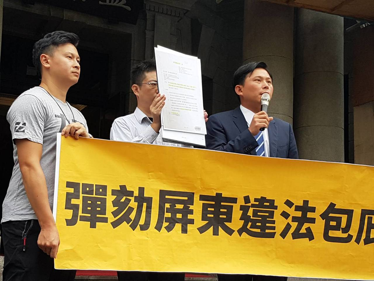 時代力量立委黃國昌今天否認退黨組第三勢力說,黃國昌今表示,他提出AB計畫, 希望...