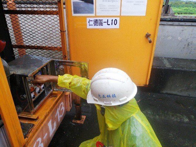 梅雨鋒面來襲, 台南市府水利局啟動防汛巡查。。圖/台南市府水利局提供