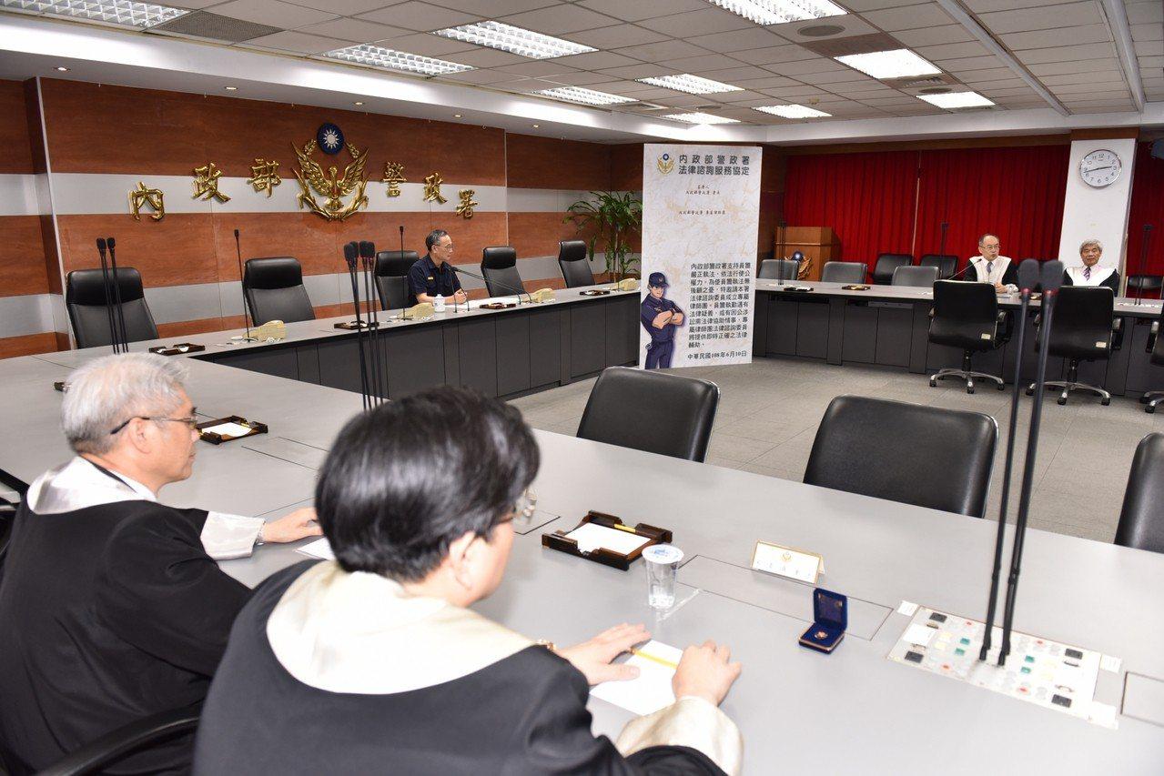 警政署成立專業律師團,幫助因公涉訟的警察面對官司。圖/記者廖炳棋翻攝