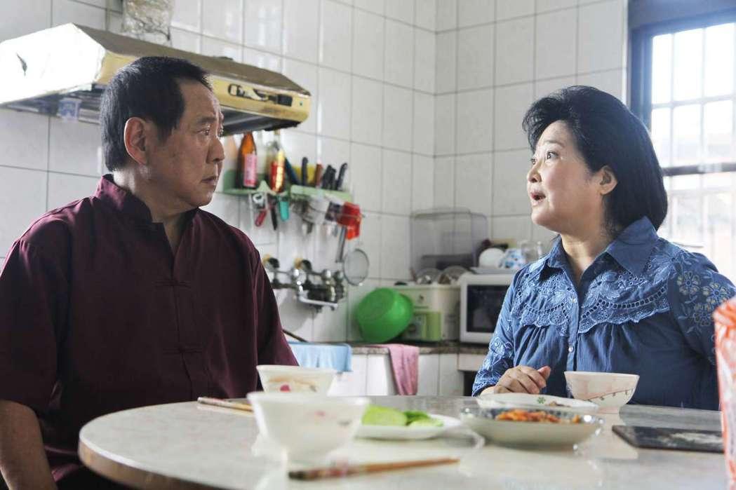馬如龍(左)在「湊陣」中與沛小嵐也是夫妻。圖/公視提供