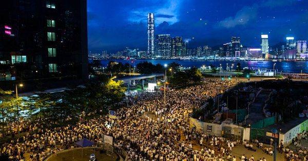 麥迪文推特上可見香港反送中遊行的相關訊息。 圖/取自麥迪文推特