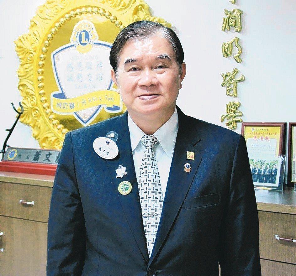 富偉科技集團總裁暨臺灣機械公會常務監事蕭文龍。 戴辰/攝影