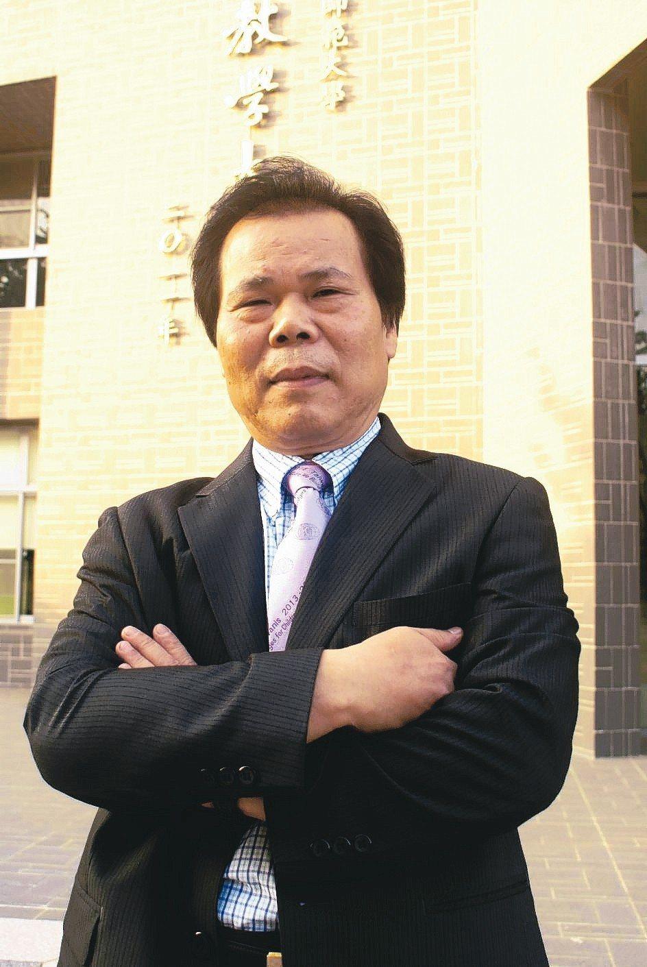 東佑電料董事長陳杉井。 吳青常/攝影