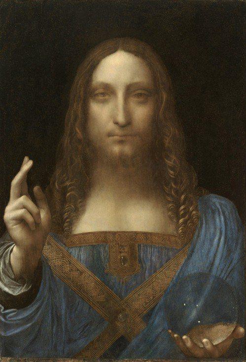 義大利文藝復興巨匠達文西的曠世鉅作「救世主」。 圖片來源/「wikipedia」...