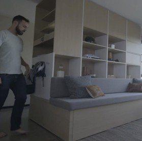 最強小房間收納!IKEA打造「客廳、餐廳、臥室」3合一櫥櫃 一鍵收納省出大空間