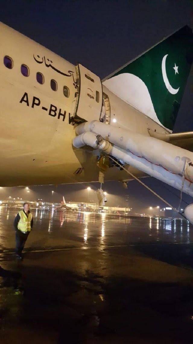 巴基斯坦國際航空公司702班機日前發生女乘客在起飛前誤開救生出口的意外,造成班機...