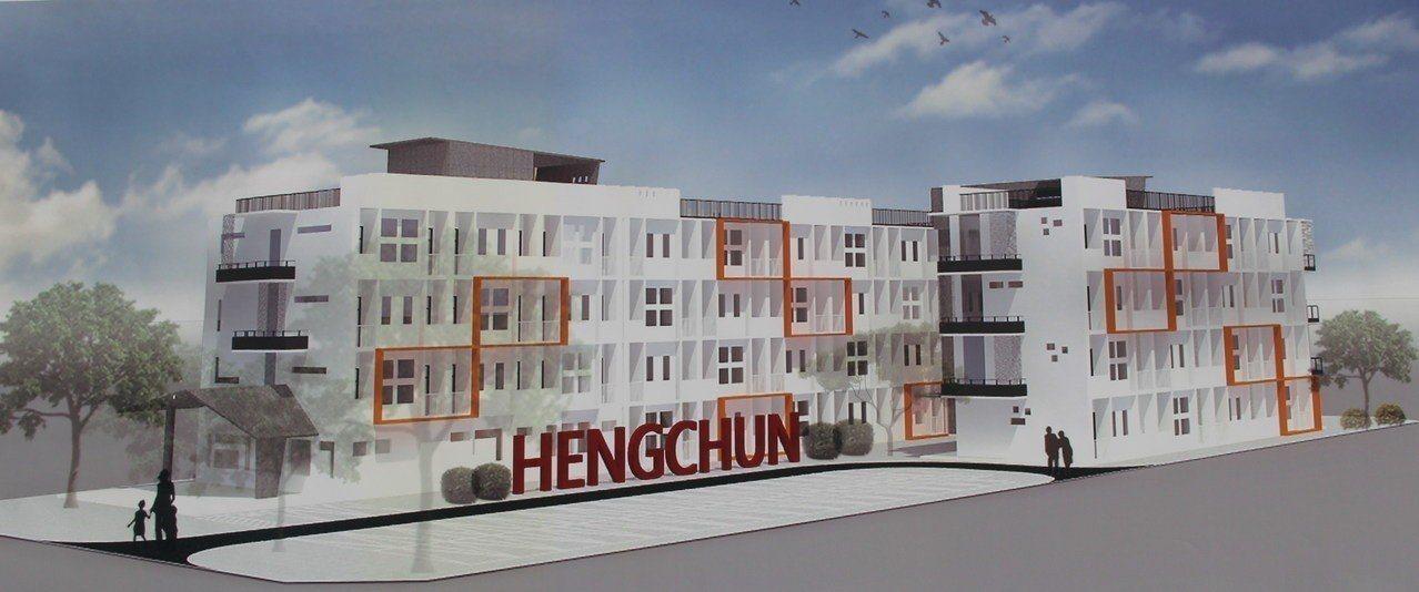 斥資1.8億興建的屏東縣恆春公教宿舍定15日動工,明年6月完工。記者潘欣中/攝影