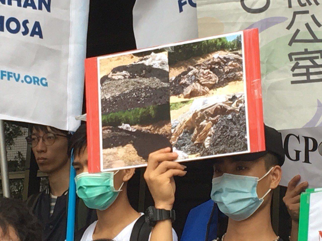 台塑河靜鋼鐵廠造成海洋汙染。記者林孟潔/攝影