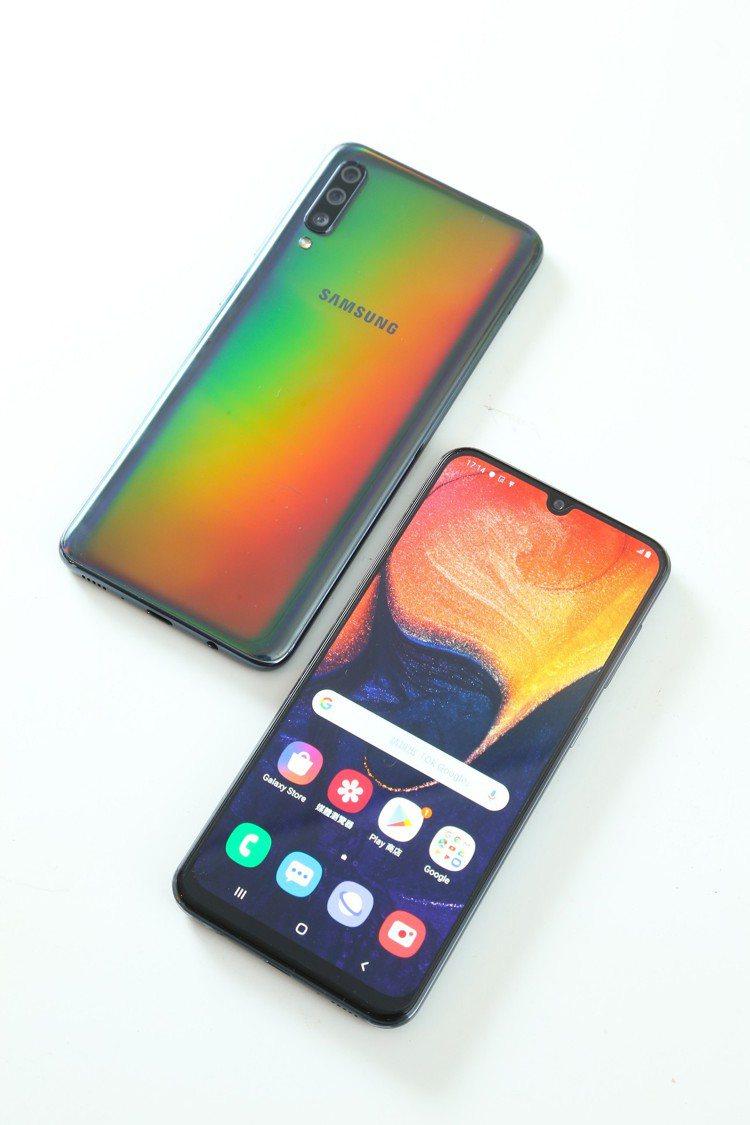 Galaxy A70的Infinity-U極限全螢幕,擁有93%以上的超高屏占比...