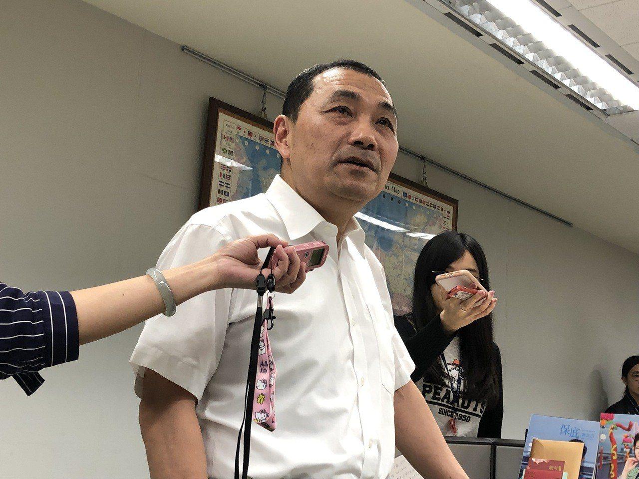 侯友宜稍早宣布已將淡水分局長陳良德調回內勤。記者王敏旭/攝影