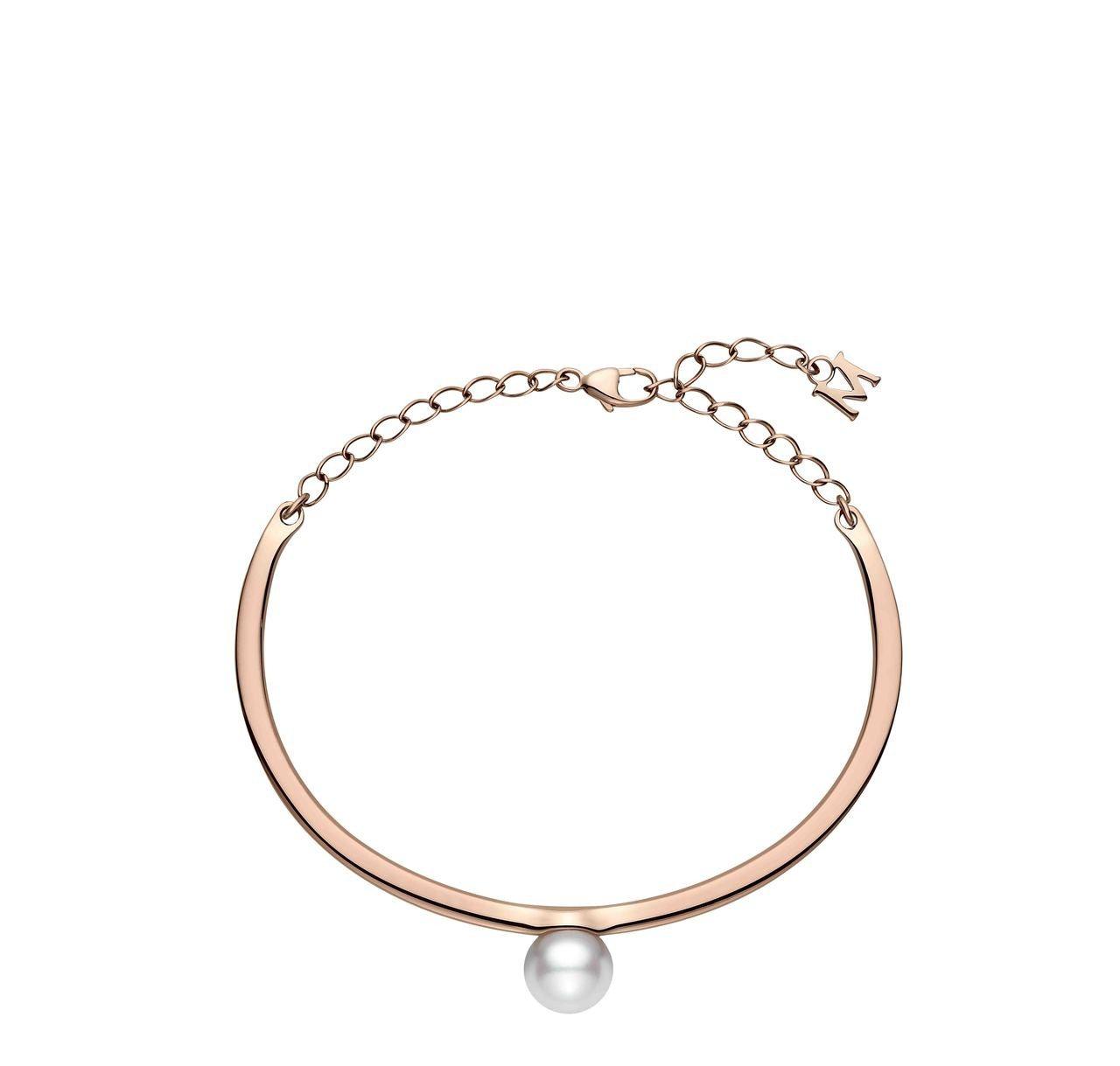 MIKIMOTO珍珠手環,18K粉紅金鑲嵌日本Akoya珍珠,79,800元。圖...