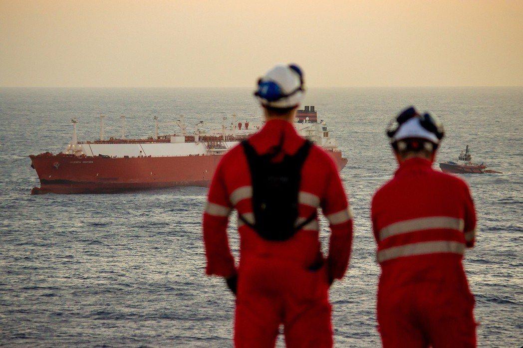 中油新南向報捷,參與澳大利亞氣田液化天然氣今啟運。(圖/中油提供)