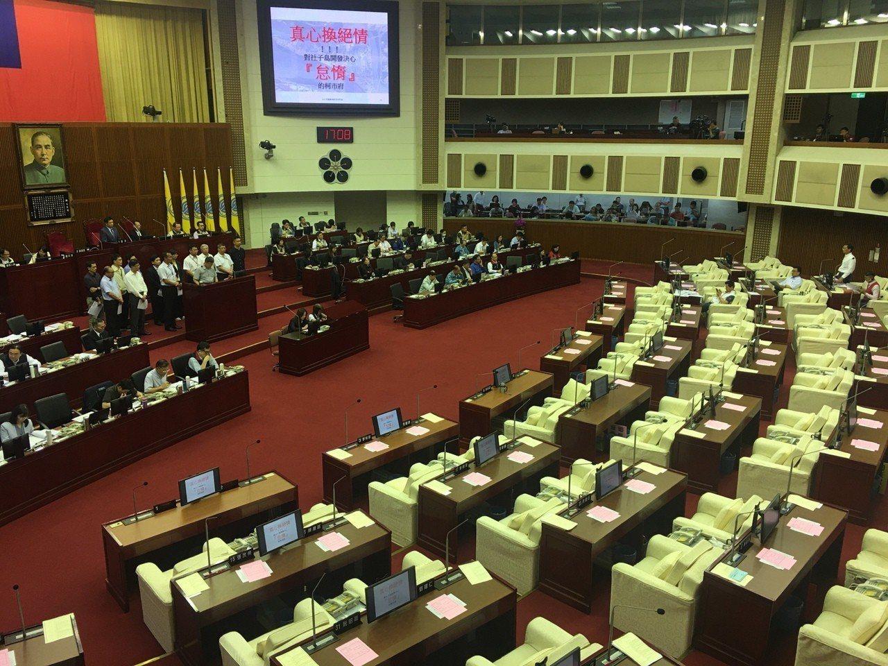 台北市議會總質詢。記者魏莨伊/攝影