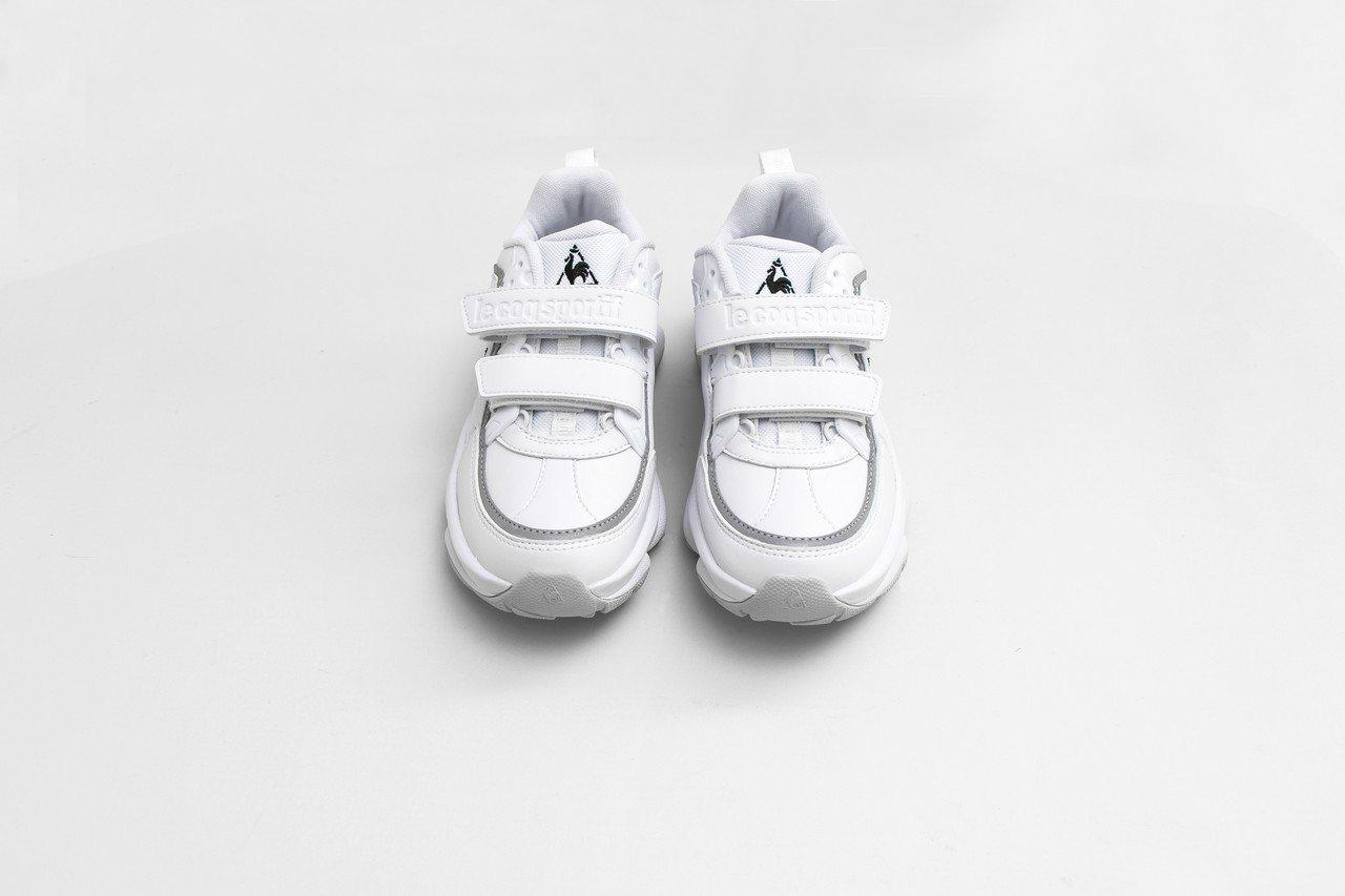 Le coq sportif Sport Monaco白色鞋款,3,290元。圖...