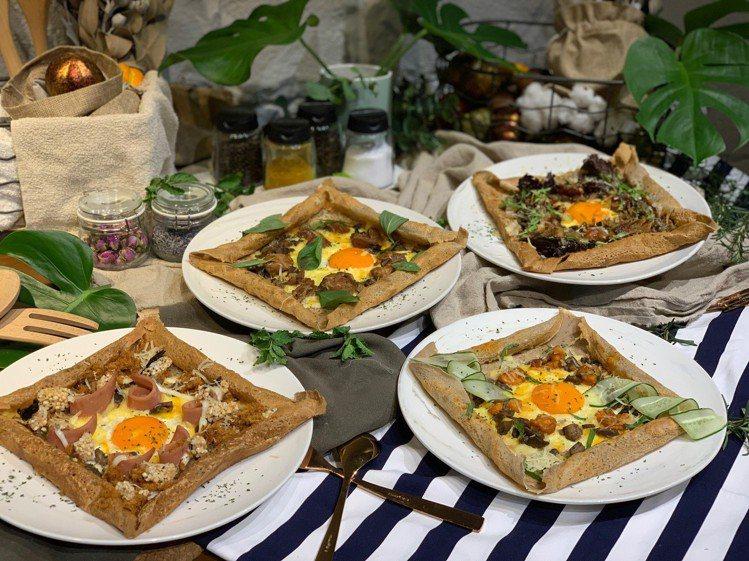 鹹口味的「法式薄煎餅」套餐售價250元~280元。記者張芳瑜/攝影