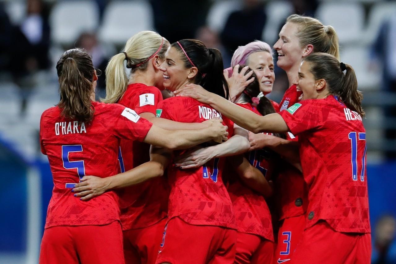 女足世界杯╱摩根單場5球 美國13:0歷史性勝泰國