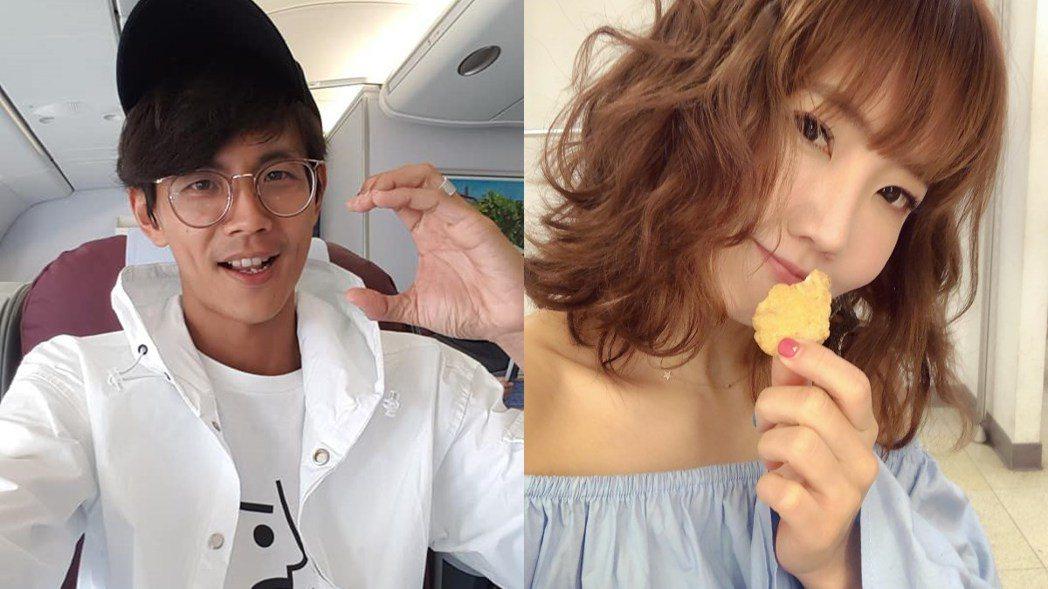 阿翔與謝忻被拍在車邊熱吻。 圖/擷自臉書